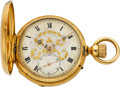 Timepieces:Pocket (pre 1900) , Breting Freres Locle Heavy Gold Detent Chronometer For Repair,circa 1885. ...