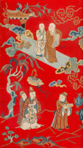 Asian:Chinese, A Chinese Silk Embroidery. 29 h x 17 w inches (73.7 x 43.2 cm). ...