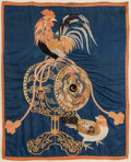 Asian:Japanese, A Large Framed Japanese Silk Satin Embroidered Fukusa (GiftCover), Showa Period. 33-1/2 h x 27-1/2 w inches (85...