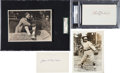Baseball Collectibles:Others, Early 1900's Baseball Stars Autographs Lot of 4....
