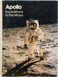Autographs:Celebrities, Apollo Expeditions to the Moon Book Signed by Eight, Including Five Moonwalkers....