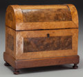 Decorative Arts, Continental:Other , A Continental Burled Walnut, Maple, and Mahogany Table Casket, 19thcentury. 8 inches high x 8-3/4 inches wide x 4-3/4 inche... (Total:2 Items)