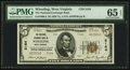 National Bank Notes:West Virginia, Wheeling, WV - $5 1929 Ty. 2 The National Exchange Bank Ch. # 5164....