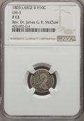 Early Half Dimes, 1803 H10C Large 8, V-2, LM-3, R.3, Fine 12 NGC....