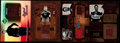 Football Cards:Lots, 2003-05 Football Jim Thorpe Relic/Jersey Card Collection (4)....
