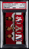 Baseball Cards:Singles (1970-Now), 2006 Topps Triple Threads Clemens/Mantle/Rodriguez Relic Combos Serial Numbered 7/18 PSA NM-MT 8....