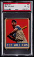Baseball Cards:Singles (1940-1949), 1948 Leaf Ted Williams #76 PSA VG-EX 4....