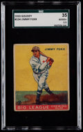 Baseball Cards:Singles (1930-1939), 1933 Goudey Jimmy Foxx #154 SGC 35 Good+ 2.5....
