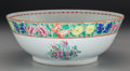 Asian:Chinese, A Chinese Export Porcelain Punch Bowl, 19th century. 4-3/8 h x11-1/2 d inches (11.0 x 29.2 cm). ...