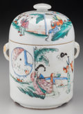 Asian:Chinese, A Chinese Republic Period Covered Porcelain Jar, circa 1912-1949.Marks: (character marks to underside). 7-1/2 inches high (...