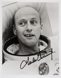 Autographs:Celebrities, Charles Conrad Signed Spacesuit Photo....