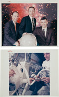 "Explorers:Space Exploration, Apollo 13: Two Desirable Original NASA ""Red Number"" Color Glossy Photos. ... (Total: 2 Items)"