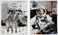 Autographs:Celebrities, Gordon Cooper Signed Gemini-Related Photos (Two).... (Total: 2Items)