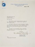 Autographs:Celebrities, Wally Schirra Typed Letter Signed Regarding Flight of Sigma7. ...