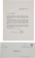 Autographs:Celebrities, Alan and Louise Shepard Typed Letter Signed to Walter Kapyran, with Transmittal Envelope. ... (Total: 2 Items)