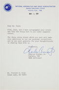 Autographs:Celebrities, Charles Conrad Typed Letter Signed to Forrest E. Cook RegardingPhilatelic Covers. ...