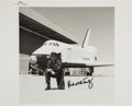 Autographs:Celebrities, Richard Truly Signed Vintage NASA Space Shuttle A.L.T.Enterprise Photo. ...