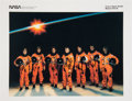Autographs:Celebrities, Space Shuttle Discovery (STS-39) Crew-Signed Color Photo....