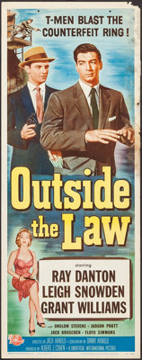 """Outside the Law (Universal International, 1956). Inserts (6) Identical (14"""" X 36""""). Crime. ... (Total: 6 Items..."""