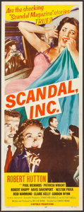 "Movie Posters:Crime, Scandal, Inc. (Republic, 1956). Inserts (4) Identical (14"" X 36"").Crime.. ... (Total: 4 Items)"