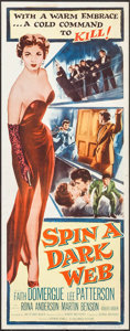 "Movie Posters:Crime, Spin a Dark Web (Columbia, 1956). Inserts (3) Identical (14"" X 36""). Crime.. ... (Total: 3 Items)"