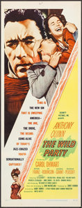 """Movie Posters:Crime, The Wild Party (United Artists, 1956). Inserts (4) Identical (14"""" X 36""""). Crime.. ... (Total: 4 Items)"""
