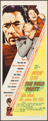 """The Wild Party (United Artists, 1956). Inserts (4) Identical (14"""" X 36""""). Crime. ... (Total: 4 Items)"""