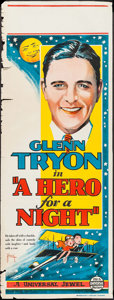 "Movie Posters:Comedy, A Hero for a Night (Universal, 1927). Australian Pre-War Daybill (15"" X 40""). Comedy.. ..."