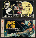 "Movie Posters:James Bond, James Bond Secret Agent 007 Game & Other Lot (Milton Bradley,1964). Board Game (9.5"" X 19"" X 1.5"") & French Board Game (9""... (Total: 2 Items)"