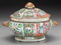Asian:Chinese, A Chinese Canton Famille Rose Covered Tureen, 19th century. 9-1/2 hx 14 w inches (24.1 x 35.6 cm). PROPERTY FROM THE ESTA...