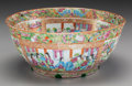 Asian:Chinese, A Chinese Canton Famille Rose Punch Bowl, 19th century. 5 h x11-1/2 d inches (12.7 x 29.2 cm). PROPERTY FROM THE ESTATE O...