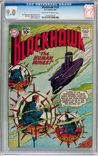 Blackhawk #159 (DC, 1961) CGC VF/NM 9.0 Off-white to white pages