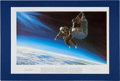 "Explorers:Space Exploration, Joe Kittinger Signed Limited Edition ""Excelsior III - The LongLonely Leap"" Print, also Signed by Artist Stuart Brown, #360/55..."