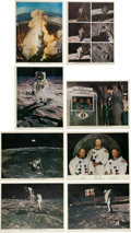 Explorers:Space Exploration, Apollo 11 Set of Period Lithographed Color Photos (Eight). ...(Total: 8 Items)