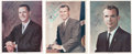 Autographs:Celebrities, Apollo and Skylab Astronaut Signed Color Photos: Ed Gibson, DickGordon, and Dave Scott. ... (Total: 3 Items)
