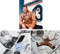 Autographs:Celebrities, Skylab III (SL-4): Individual Signed Photos.... (Total: 3 Items)