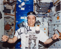 Autographs:Celebrities, John Blaha Signed Color Photo Wearing a New York Yankees Shirt andCap in Space....