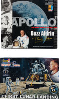 Explorers:Space Exploration, Buzz Aldrin Apollo 11 Action Figure by Dragon [and] First LunarLanding Model by Revell, both Originally from His Personal Col...(Total: 2 Items)