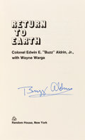 Autographs:Celebrities, Buzz Aldrin Signed Book: Return to Earth, Originally fromHis Personal Collection. ...