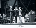 Autographs:U.S. Presidents, [Neil Armstrong] President Jimmy Carter Signed Large Photo....