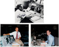 Autographs:Celebrities, NASA Flight Directors at their Consoles: Signed Photos of Kraft,Lunney, and Griffin.... (Total: 3 Items)