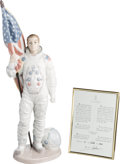 """Explorers:Space Exploration, """"The Apollo Landing"""" Lladró Figurine (Retired) in Box withCertificate of Authenticity, Originally from Buzz Aldrin'sPersonal..."""