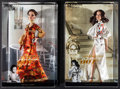"""Movie Posters:James Bond, Live and Let Die & Other Lot (Mattel, 2010). Barbie Dolls in Original Packaging (2) (3.5"""" X 8"""" X 13""""). James Bond.. ... (Total: 2 Items)"""