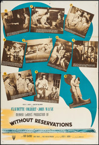 """Without Reservations (RKO, 1946). One Sheet (27"""" X 39.75"""") Alternate Style. Comedy"""