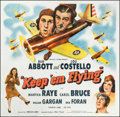 """Movie Posters:Comedy, Keep 'Em Flying (Universal, 1941). Six Sheet (78.75"""" X 81"""").Comedy.. ..."""