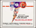 "Movie Posters:Thriller, Billion Dollar Brain (United Artists, 1967). Half Sheet (22"" X 28""). Thriller.. ..."