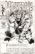 Original Comic Art:Covers, Marc Silvestri and Dan Green Wolverine #48 Cover OriginalArt (Marvel, 1991)....