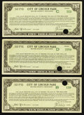 Obsoletes By State:Michigan, Lincoln Park, MI- City of Lincoln Park $1; $5; $10 June 15, 1934 Shafer MI531-1.b3; 5b.2; 10.b1. ... (Total: 3 notes)
