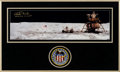 "Autographs:Celebrities, Charlie Duke Signed Apollo 16 Panoramic Lunar Surface ""Moonpans""Color Photo in Framed Display with Mission Insignia Patch. ..."