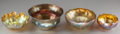Art Glass:Tiffany , Four Tiffany Studios Gold Favrile Glass Bowls, Corona, New York,circa 1900. Marks to all: L.C.T.; L.C.T. Favrile; ...(Total: 4 Items)